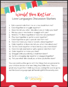 would you rather love discussion starters