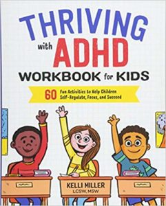 Thriving with ADHD workbook for kids cover image