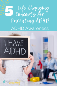 child holding sign in front of face that states I HAVE ADHD
