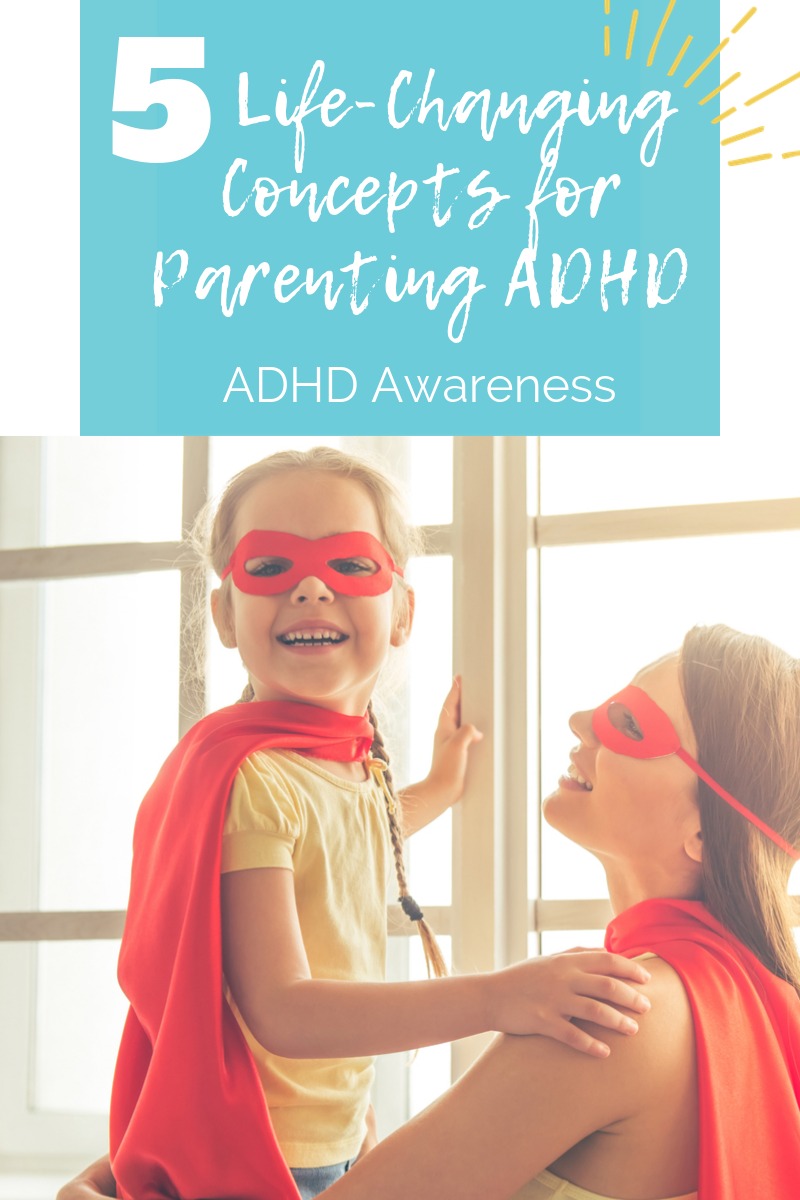 5 LifeChanging Concepts for Parenting ADHD picture of mom holding child both dressed as super heroes