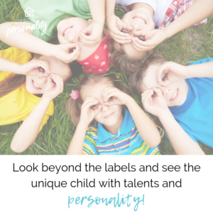 Look beyond the labels and see the unique child with talents and personality!